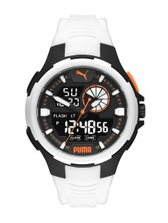 Puma P5061 BOLD ANALOG-DIGITAL Uhr Herrenuhr Datum Alarm weiß