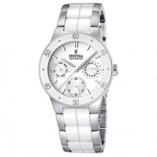 FESTINA F16530/1 KERAMIK Uhr Damenuhr kratzfestes Keramik Datum weiß