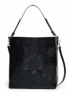 Desigual Damen Handtasche Tasche TRIP GIJON Schwarz 18SAXPDA-2000
