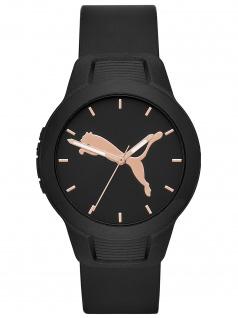 PUMA P1006 Uhr Damenuhr Plastik schwarz