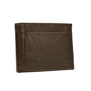 Fossil Geldbörse Neel Large Coin Bifold Braun Herren Portemonnaie
