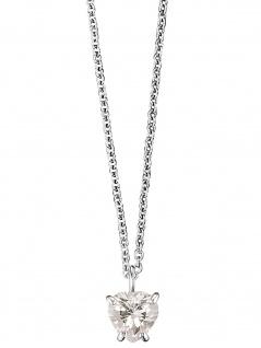 Herzengel HEN-HEAT01-ZI Mädchen Collier Herz Silber weiß 42 cm