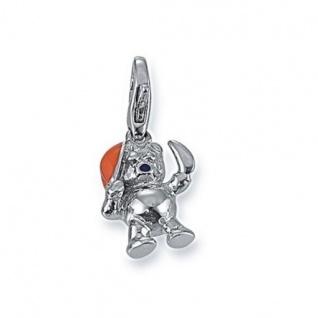 GOOIX Charms GXC357 Anhänger Silber Orange Teddybär