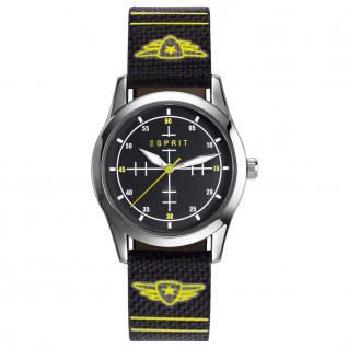 Esprit esprit tp-90651 black Uhr Junge Kinderuhr Lederarmband schwarz
