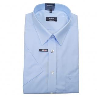 Eterna Herrenhemd Kurzarm 1100/10/K198 Comfort Fit Hellblau Gr. L/42