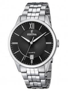 FESTINA F20425/3 Uhr Herrenuhr Edelstahl Datum Silber