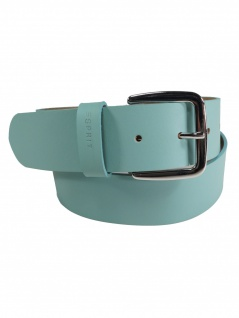 Esprit Damen Gürtel Jeansgürtel New basic belt Leder 85cm Türkis