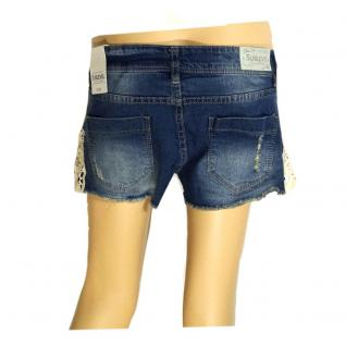 Authentic Style Damen kurze Hose Shorts mit Spitze Dunkelblau Gr. XS - Vorschau 2