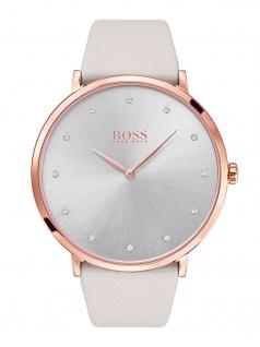 Hugo Boss 1502412 JILAN Uhr Damenuhr Lederarmband Grau