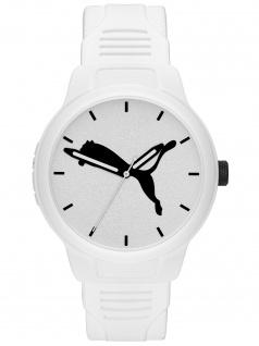 PUMA P5012 Uhr Herrenuhr Plastik weiß