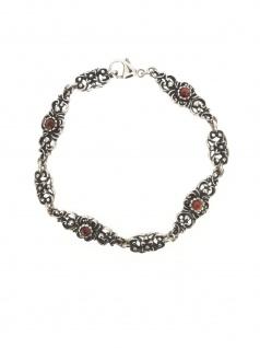 Gerry Eder 41.0167 Damen Armband Sterling-Silber 925 Silber Rot 20 cm