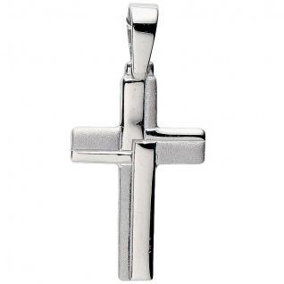 Basic Silber 27.9104S Herren Anhänger Kreuz Silber