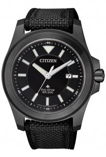 Citizen BN0217-02E Promaster Uhr Herrenuhr Kautschuk Datum schwarz