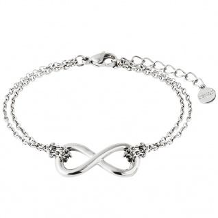 XENOX X2544 Damen Armband Unendlich Symbolic Power Silber 18, 5 cm 4843d31f42