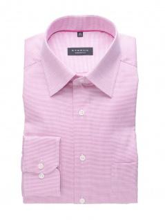 Eterna Herren Hemd Langarm Comfort Fit Natté strukturiert Pink L/42