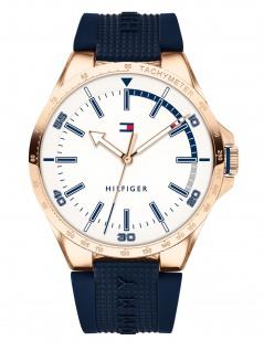 Tommy Hilfiger 1791526 RIVER Uhr Herrenuhr Kautschuk Blau