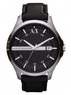 Armani Exchange AX2101 HAMPTON Uhr Herrenuhr Leder Datum schwarz