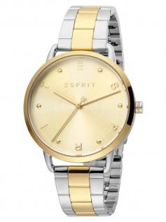 Esprit ES1L173M0095 Fun Champagne Gold Uhr Damenuhr Edelstahl bicolor