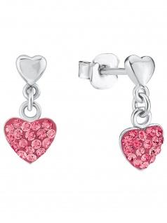 Prinzessin Lillifee 2027912 Mädchen Ohrringe Herz Silber rosa