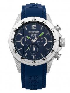Superdry SYG257U Uhr Herrenuhr Kautschuk Blau