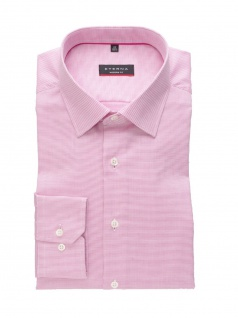 Eterna Herren Hemd Langarm Modern Fit Natté strukturiert Pink XL/44