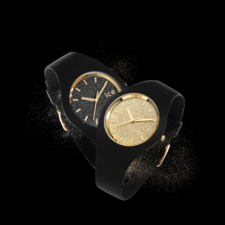 Ice-Watch ICE GLITTER White Gold Small Uhr Damenuhr Silikon weiß - Vorschau 2