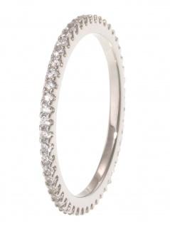 gooix 943-06726-520 Damen Ring Sterling-Silber 925 weiß 52 (16.6)