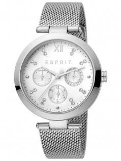 Esprit ES1L213M0055 Florine Silver Mesh Uhr Damenuhr Datum silber