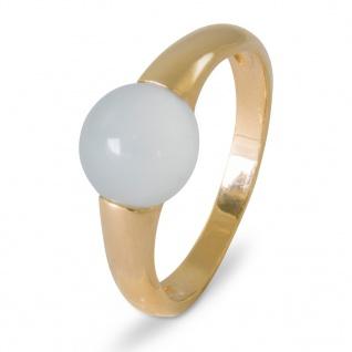 GOOIX 944-06205 Damen Ring Sterling-Silber 925 Gold Weiß 58 (18.5)