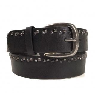 Pieces Damengürtel 17067306 ROSEMUNDE Jeans Belt Schwarz 85 cm