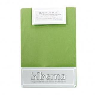 Biberna Jersey Elastic Spannbetttuch Olivgrün 140 x 200 - 160 x 220