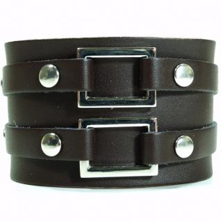 CJBB1907 Herren Armband Leder braun 21, 5 cm