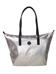 Tommy Hilfiger Handtasche Tasche Shopper Poppy Tote Silber AW0AW07391