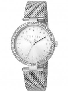 Esprit ES1L199M0035 Roselle Silver Mesh Uhr Damenuhr Datum silber