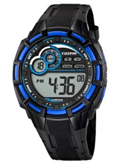 Calypso K5625/2 Chrono Uhr Herrenuhr Kunststoff Datum Alarm schwarz