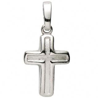 Basic Silber 27.9132S Damen Anhänger Kreuz Silber