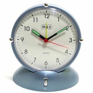 W&S 02020 Wecker Uhr blau-weiß Analog Alarm