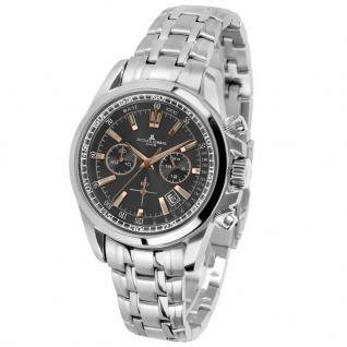 Jacques Lemans 1-1117-1XN Chronograph Uhr Herrenuhr Datum Silber
