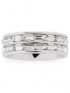 Leonardo 016955 Damen Ring Lia Edelstahl Silber weiß 56 (17.8)