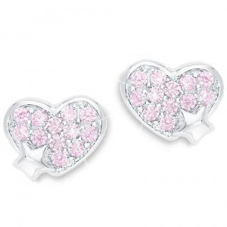 Prinzessin Lillifee PLFS/69 Mädchen Ohrstecker Herz Silber rosa