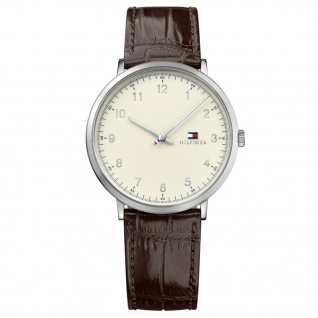 Tommy Hilfiger 1791338 James Uhr Herrenuhr Lederarmband Braun - Vorschau 1