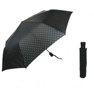 Flash MINI AC Flash printed dots Schwarz Regenschirm Schirm