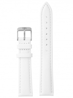 laVIIDA Uhrenarmband LB-SVI2008S Ersatzband Leder 18 mm Weiß-Silber