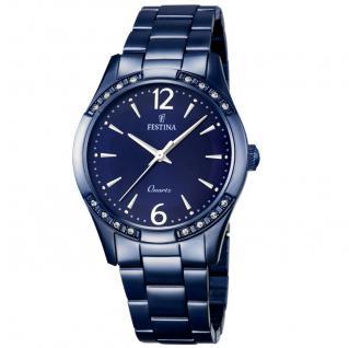 FESTINA F16915/1 Uhr Damenuhr Edelstahl blau