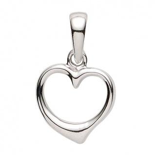 Basic Silber 21.1184S Damen Anhänger Herz Silber