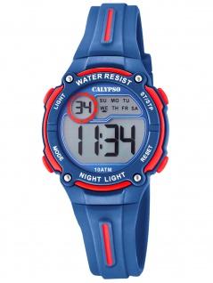 Calypso K6068/4 Chrono Uhr Junge Kinderuhr Kunststoff Datum blau