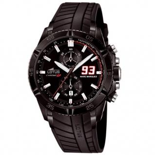 LOTUS MARQUEZ Chronograph Uhr Herrenuhr Silikon Datum schwarz