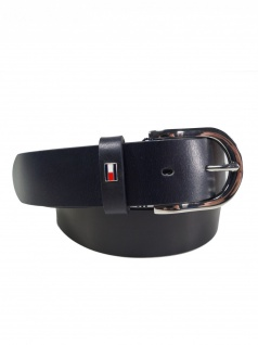 Tommy Hilfiger Damen Gürtel Jeansgürtel New Danny Belt Leder 90cm Blau