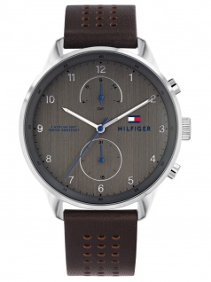 Tommy Hilfiger 1791579 CHASE Uhr Herrenuhr Lederarmband Datum Braun