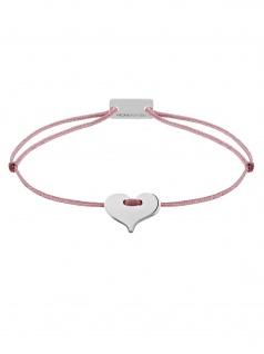 MOMENTOSS 21200214 Damen Armband Filo Herz Silber rosa-braun 19 cm - Vorschau